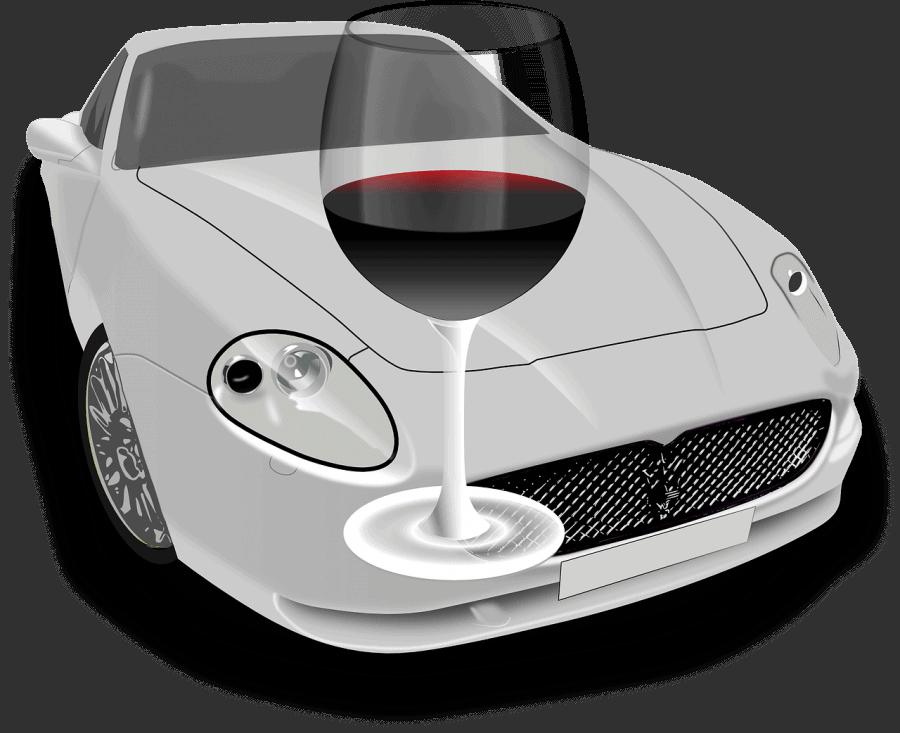 כוס יין ורכב